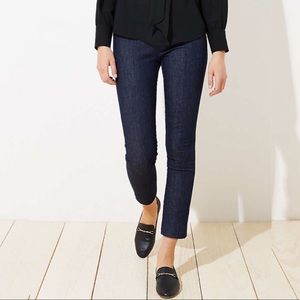 Ann Taylor Loft  curvy crop Dark Wash Jeans